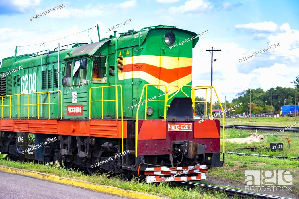 Stock Photo: Old train in Riga, Latvia, Europe.