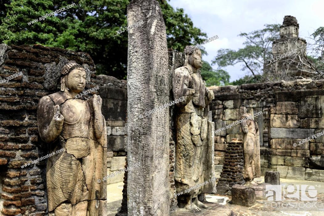 Stock Photo: Ruins of the ancient city of Polonnaruwa. Sri Lanka.