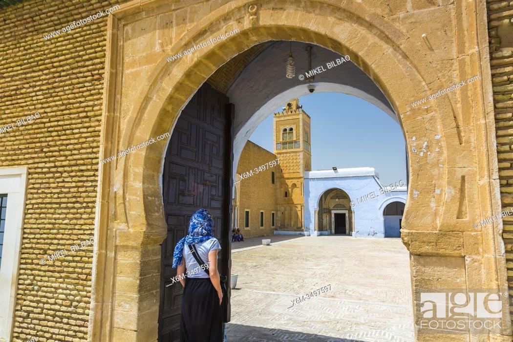 Stock Photo: Entrance. Mosque of the Barber. Kairouan. Tunisia, Africa.