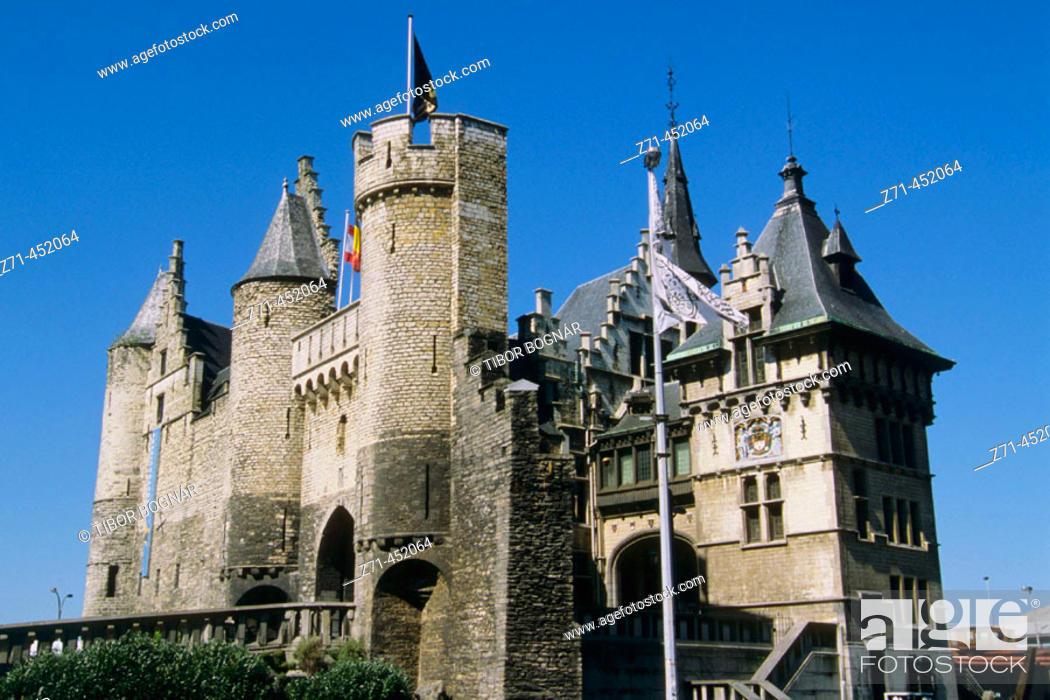 Stock Photo: Het Steen fortress, Antwerp. Belgium.