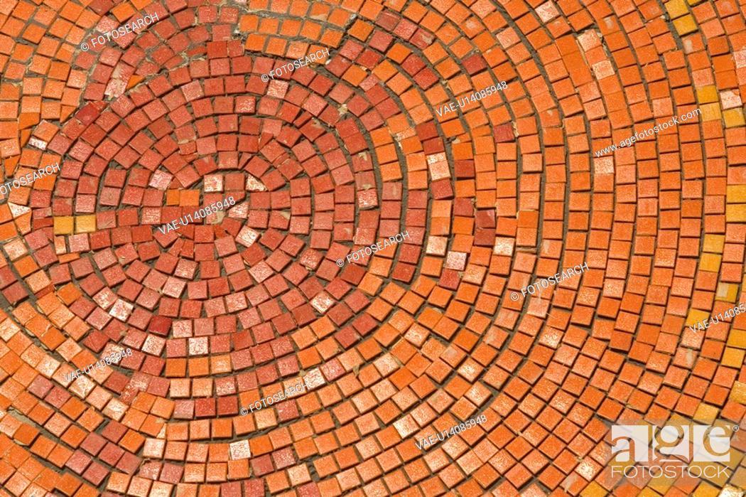 Stock Photo: Brown, Close-Up, Full Frame, Mosaic.
