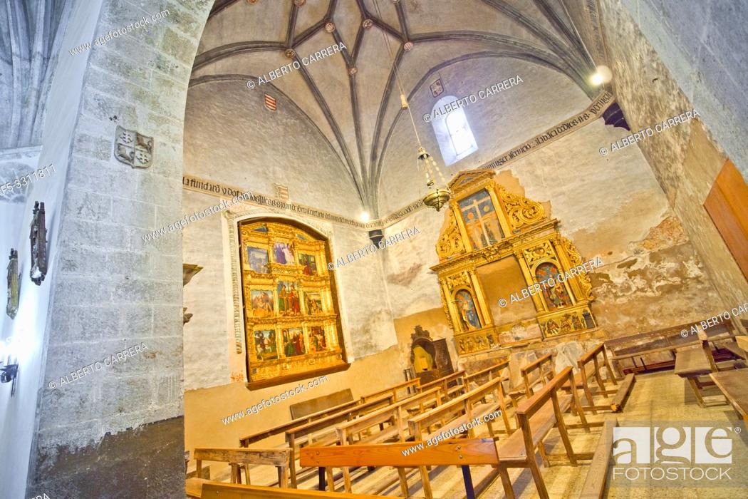 Stock Photo: San Miguel Church,12-16th Romanesque-Gothic Style, Soria, Castilla y León, Spain, Europe.