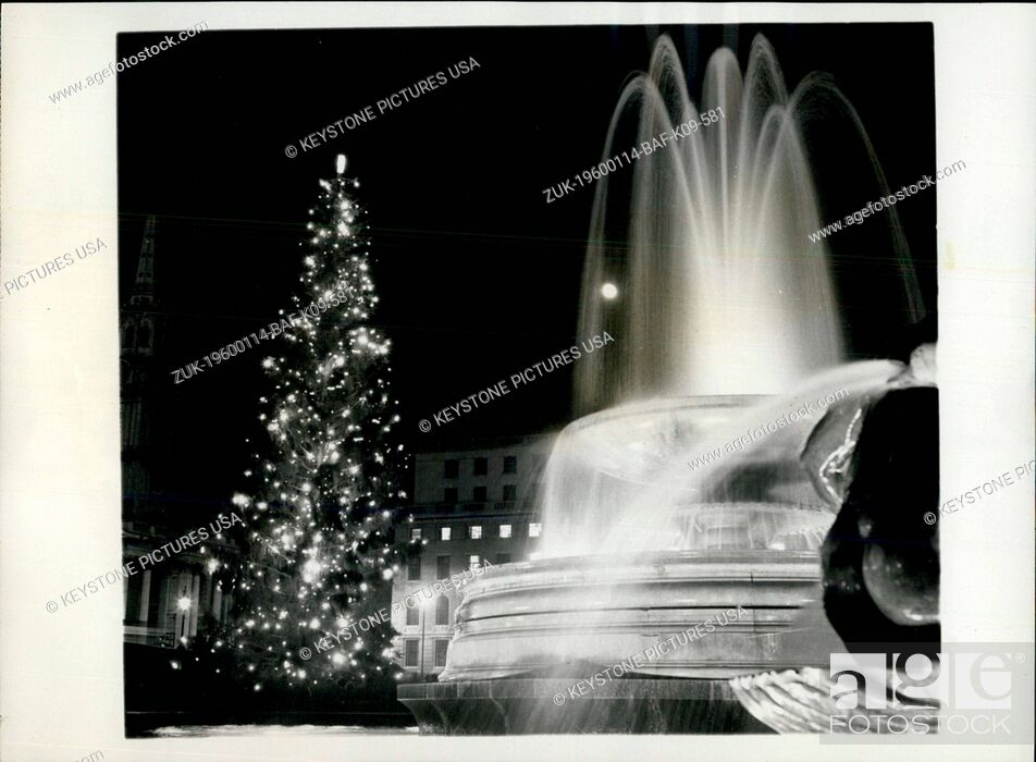 Stock Photo: 1962 - The Annual Christmas Tree from Norway is Switched On in Trafalgar Square. (Credit Image: © Keystone Pictures USA/ZUMAPRESS.com).