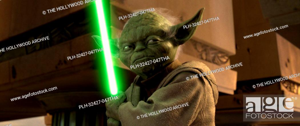 Stock Photo: Jedi Master Yoda may be small, but he packs a lot of punch in Star Wars: Episode III Revenge of the Sith. TM & © 2005 Lucasfilm Ltd.