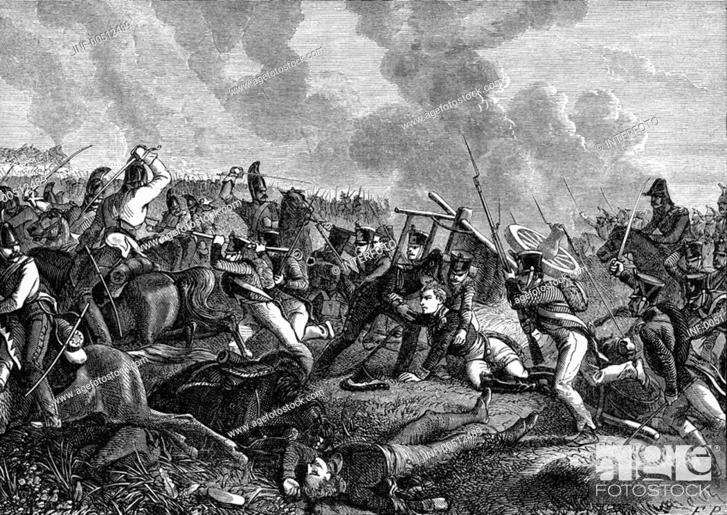 Stock Photo: SG  hist , Ereignisse, 6  Koalitionskrieg 1812 - 1814, Rußlandfeldzug 1812, 1  Schlacht bei Polotzk 17 /18 8 1812, General Laurent Gouvion Saint-Cyr wird beim.