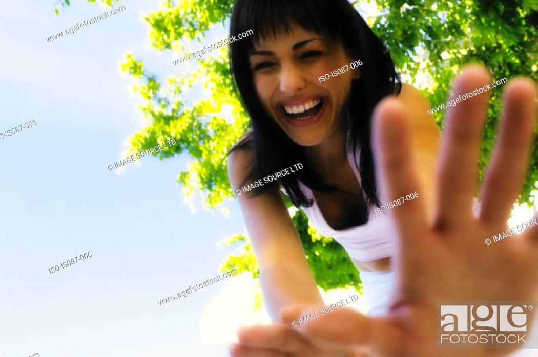 Stock Photo: Girl laughing.
