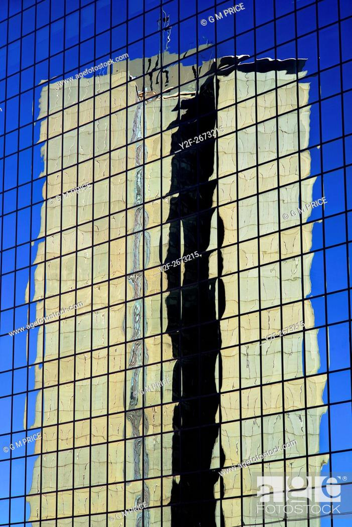 Stock Photo: reflections in downtown office tower, Sydney.