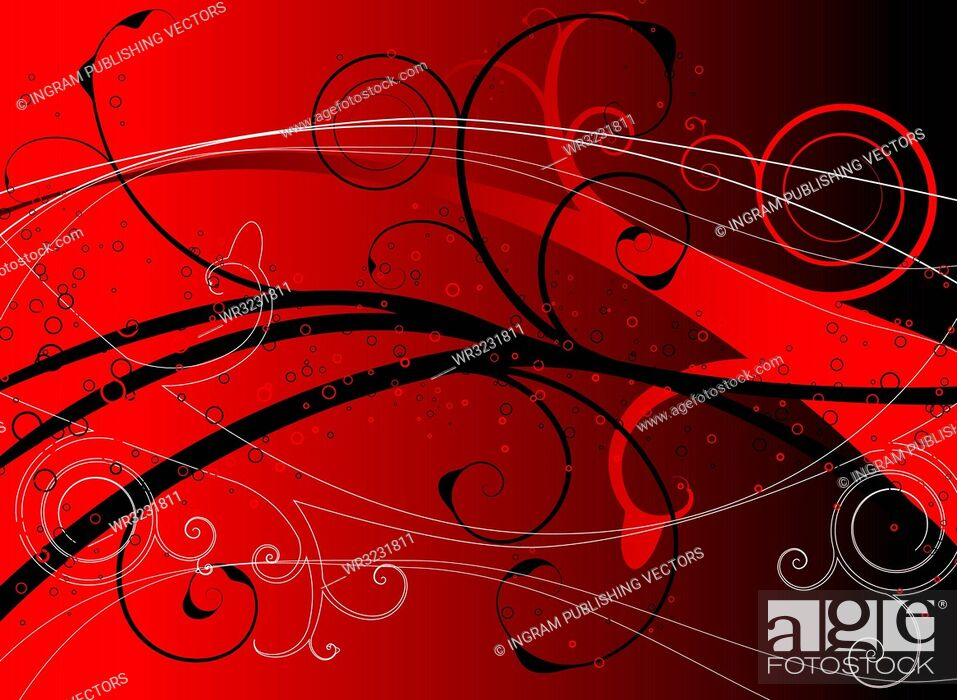 Vector: red floral underwater image ideal as a background or desktop.