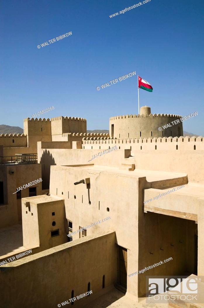 Stock Photo: Oman, The Batinah Plain, Rustaq, Rustaq Fort.