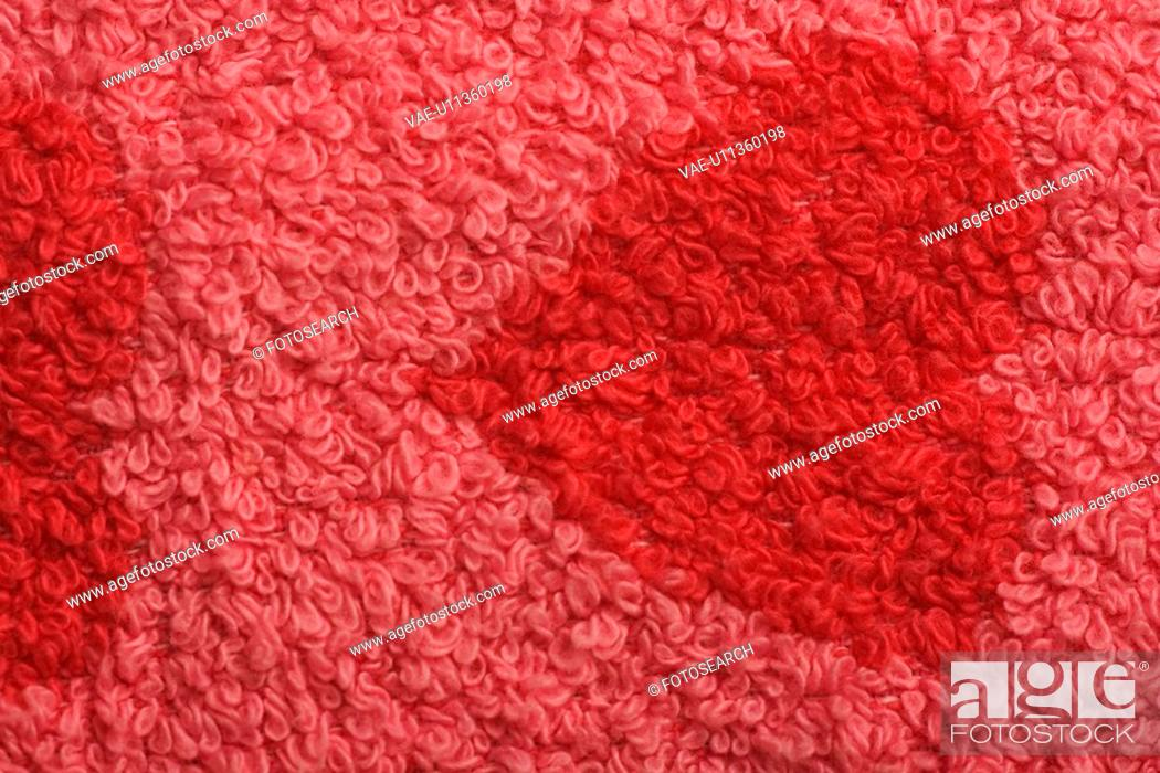 Stock Photo: Close-Up, Fabric, Heart Shape, Indoors.