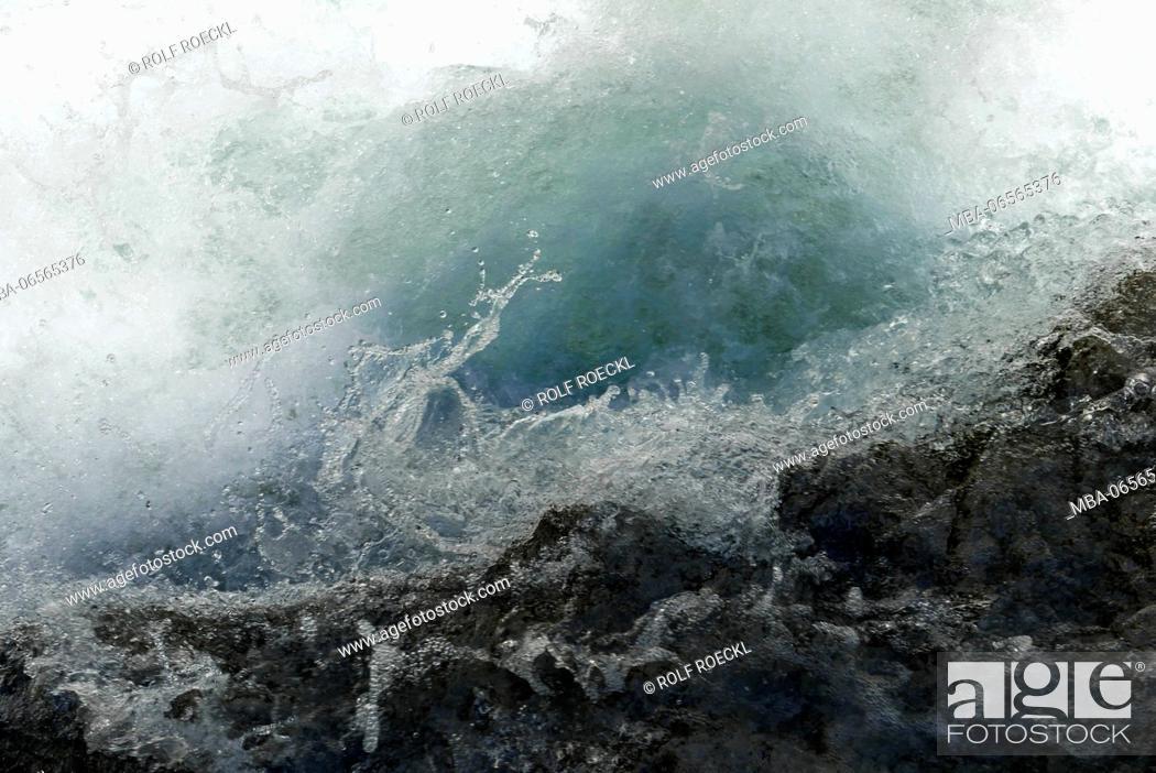 Stock Photo: effervescent water with rock in the Gleirschklamm, Tyrol.