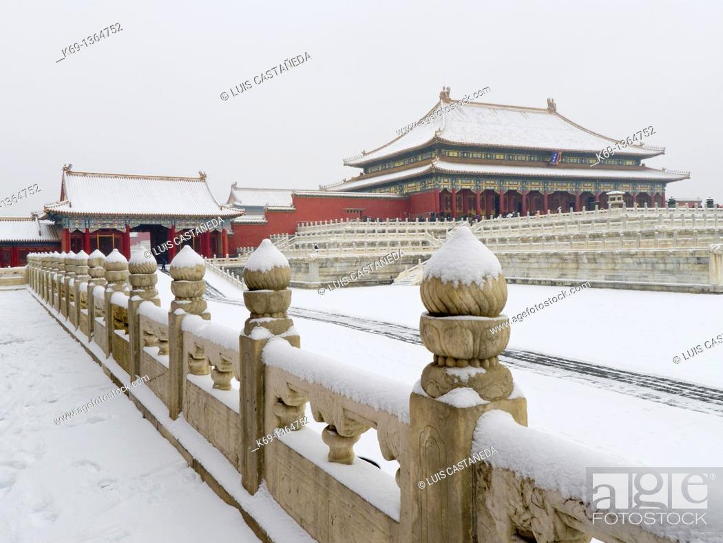Stock Photo: The Forbidden City in Winter.
