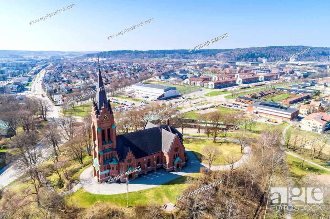 Stock Photo: Aerial view of city.