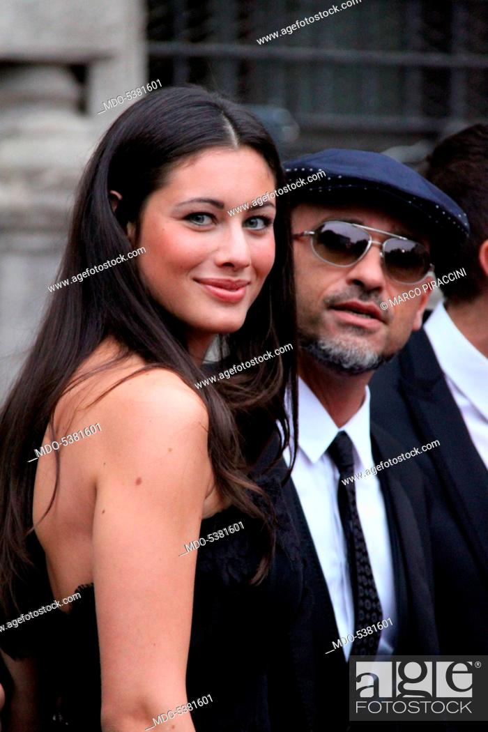 Imagen: The singer-songwriter Eros Ramazzotti and his partner and model Marica Pellegrinelli attending the party held by Dolce & Gabbana. Milan, Italy.