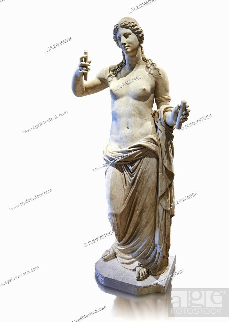 Stock Photo: Aphrodite- type known as the Venus of Arles. A Roman statue in marble of the 1st - 2nd century AD in marble from Rome. The statue is a 1.