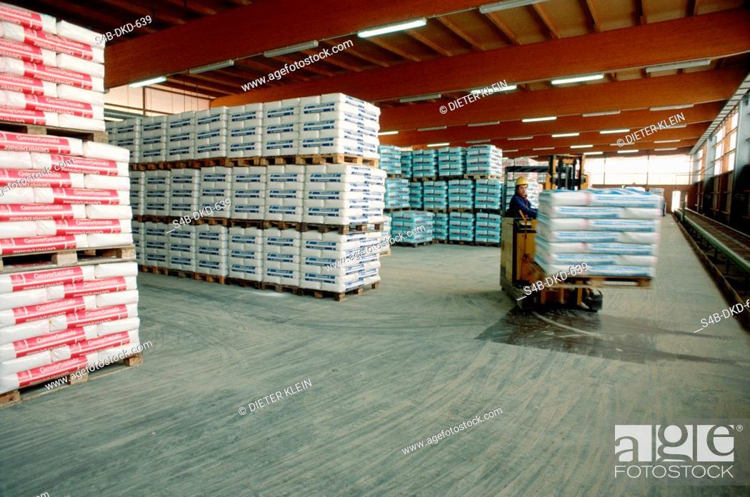 Stock Photo: Warehouse for salt.