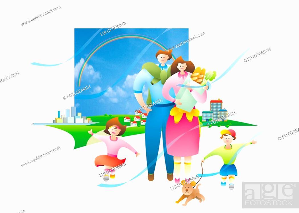 Stock Photo: Family Walk.
