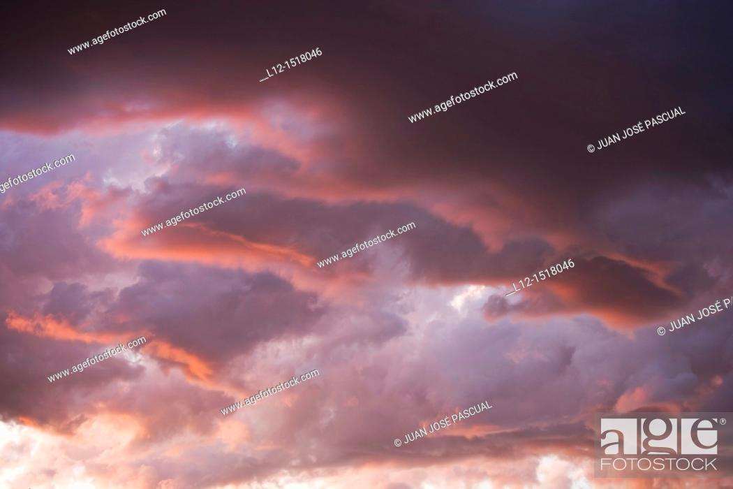Stock Photo: Clouds at sunset.