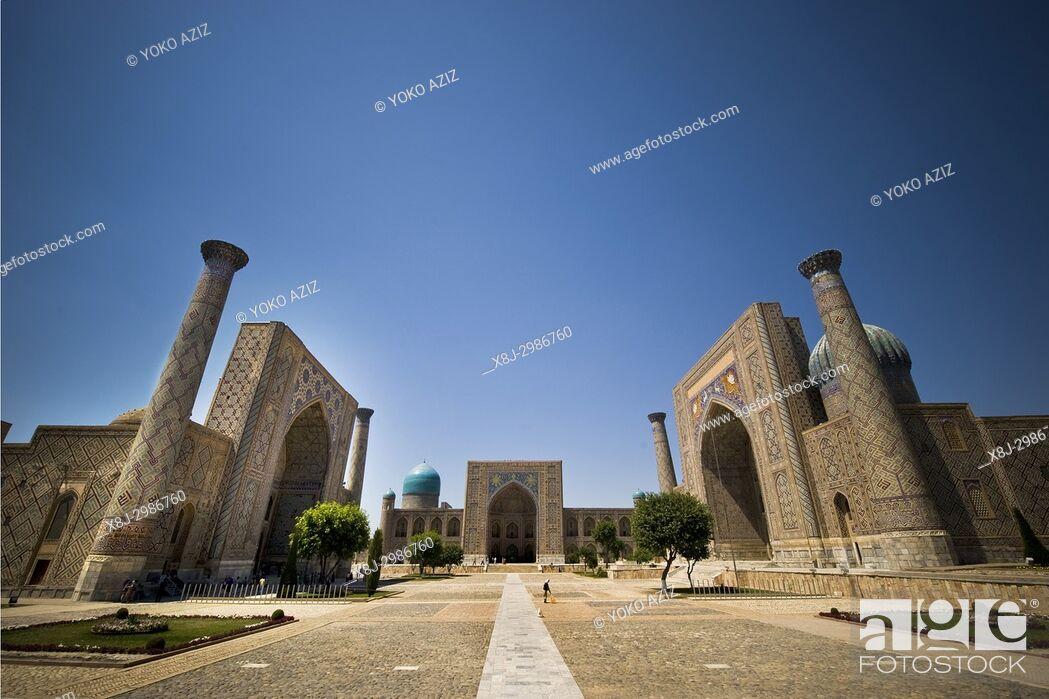 Imagen: Uzbekistan, Samarkand, Registan.