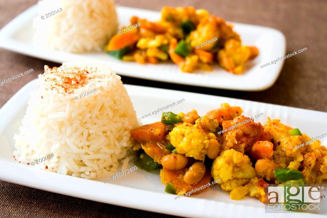 Stock Photo: Afrikanisches Gemüsegericht - African Dish.