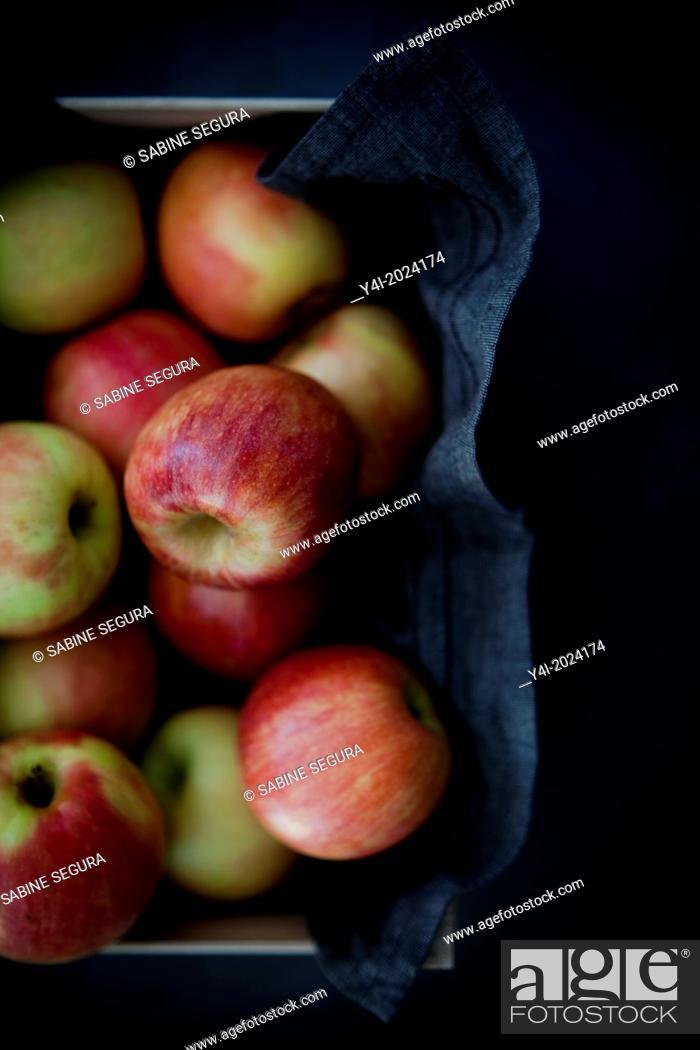 Stock Photo: Apple pie recipe. Serie.