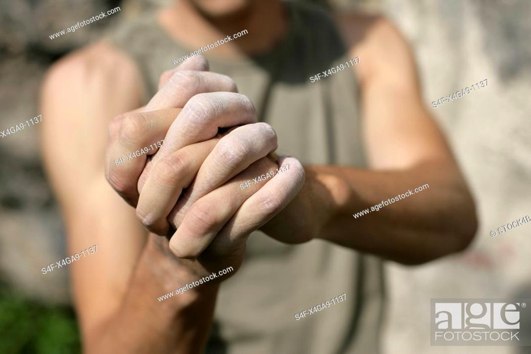 Stock Photo: Folded Hands.