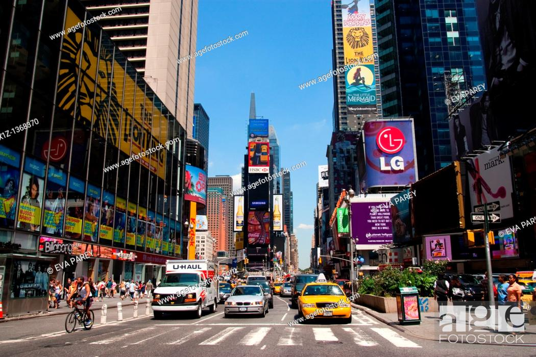 Stock Photo: Times Square in Manhattan New York City.
