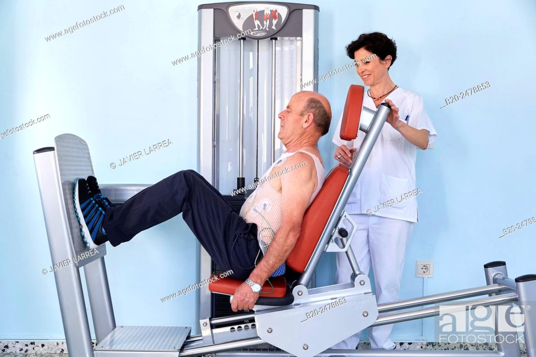 Stock Photo: Cardiac rehabilitation, Hospital Donostia, San Sebastian, Gipuzkoa, Basque Country, Spain.