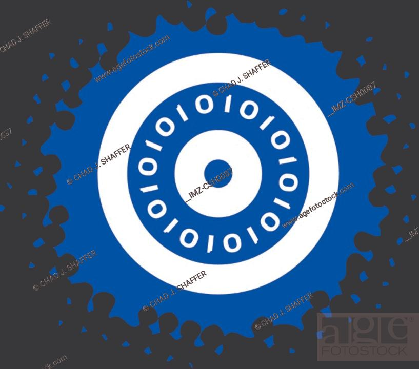 Stock Photo: Drawing of a backup disc.