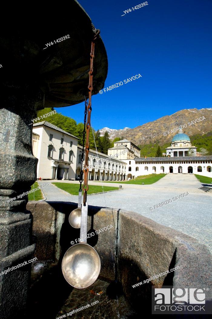 Stock Photo: Italy, Piedmont, Biella, Sancturary of Oropa.