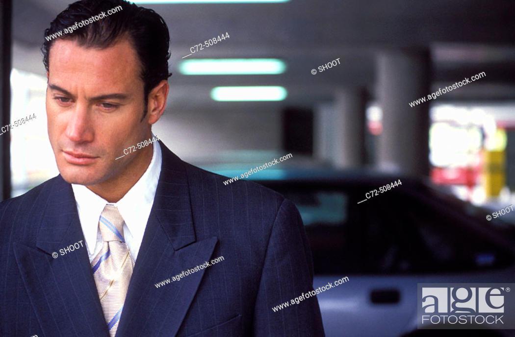 Stock Photo: Executive businessman close up.