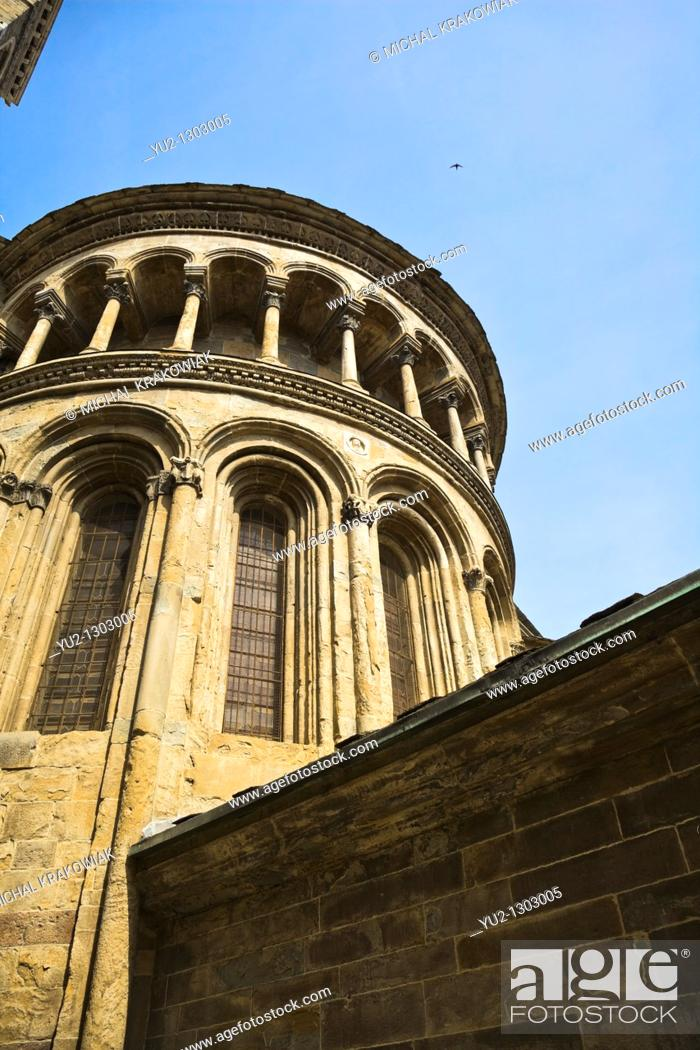 Stock Photo: Detail of The Basilica of Santa Maria Maggiore in Bergamo, Italy.