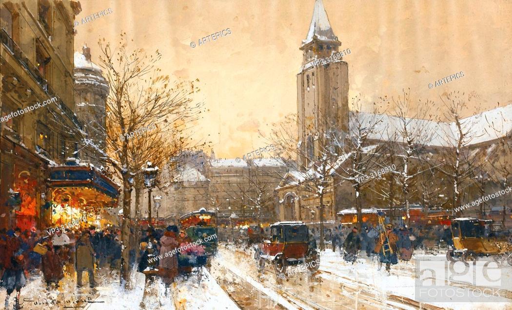 Imagen: Galien-Laloue Eugene - Boulevard Saint-Germain Paris.