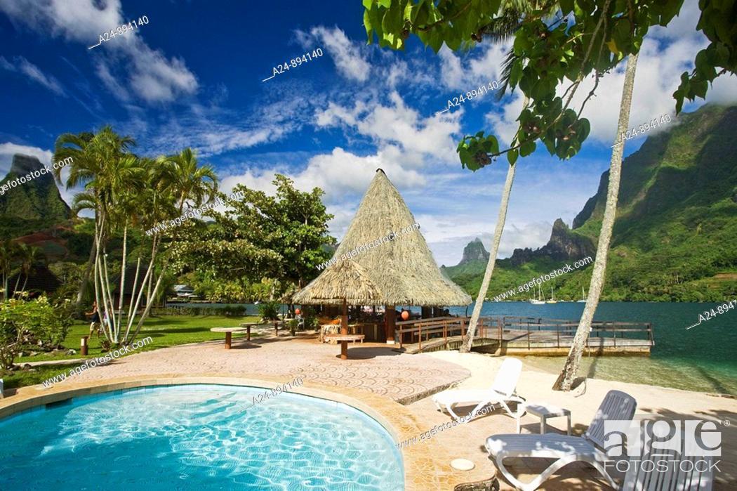 Stock Photo: Pool at Bali Hai Club, Cook's Bay, Moorea, Society Islands, French Polynesia (May, 2009).
