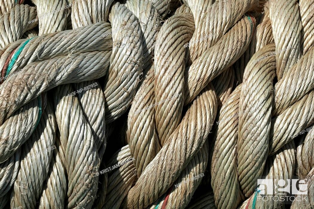 Stock Photo: Close-up of ropes.