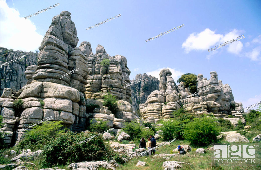 Stock Photo: Erosion working on Jurassic limestones, Torcal de Antequera. Málaga province, Spain.