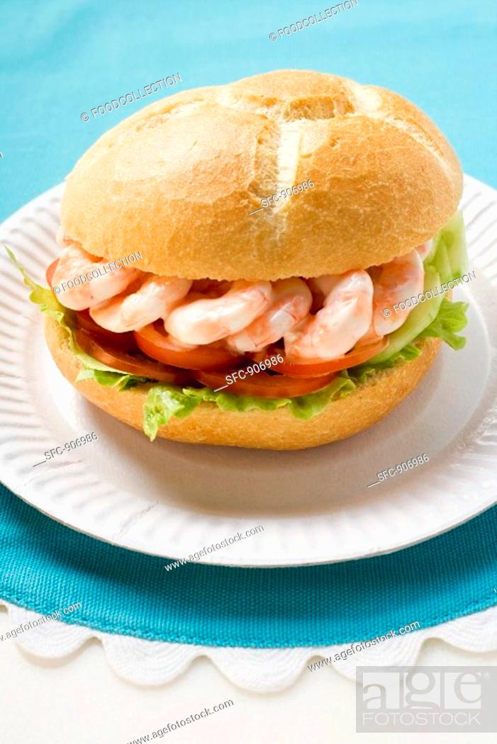 Stock Photo: Shrimp roll.