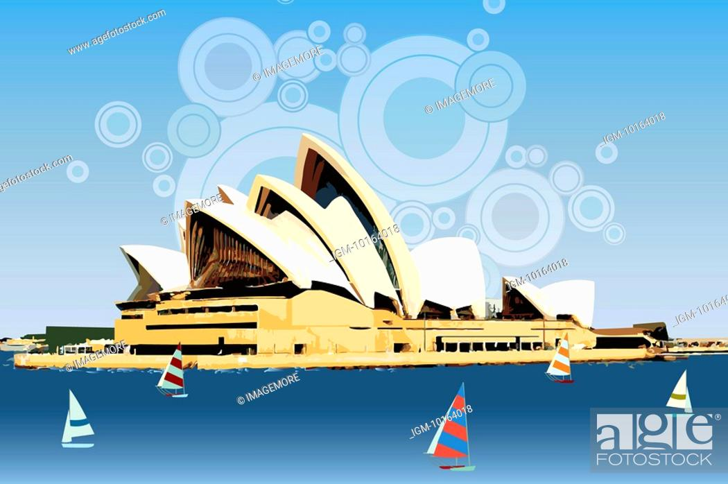 Stock Photo: Australia, Sydney, Sydney Opera House, Capital Cities, UNESCO, World Cultural Heritage.