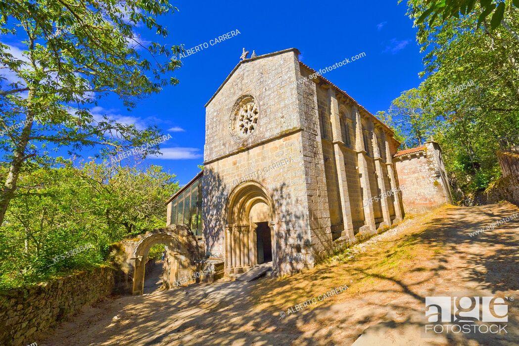 Imagen: Monastery of Santa Cristina de Ribas de Sil, 12-13th Century Romanesque Style, Spanish Property of Cultural Interest, Spanish National Heritage Site.