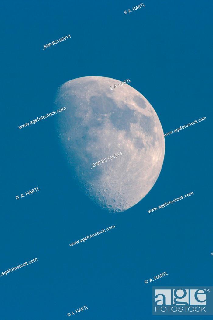Stock Photo: half moon, Germany, Bavaria.
