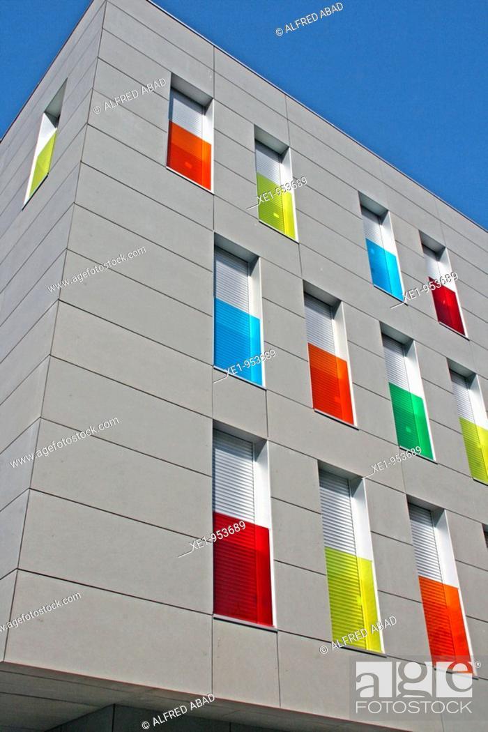 Stock Photo: Building, Molins de Rei, Catalonia, Spain.