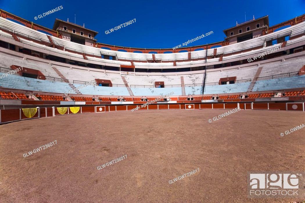 Stock Photo: Panoramic view of a bullring, Plaza De Toros San Marcos, Aguascalientes, Mexico.