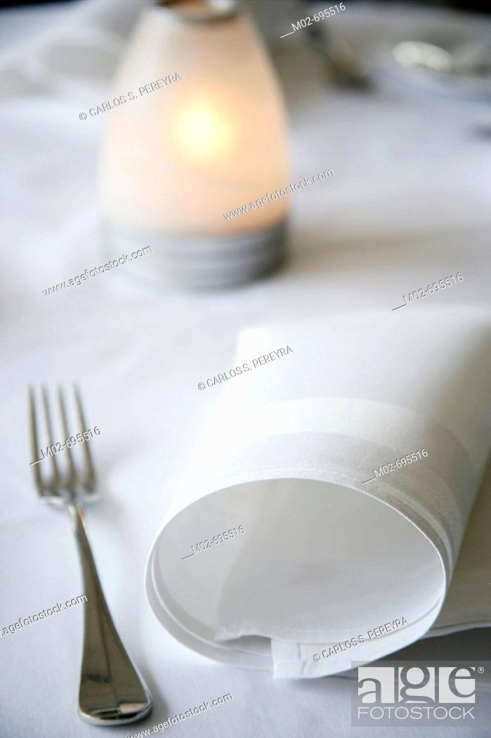 Stock Photo: Modern restaurant detail, Mexico City, Mexico.