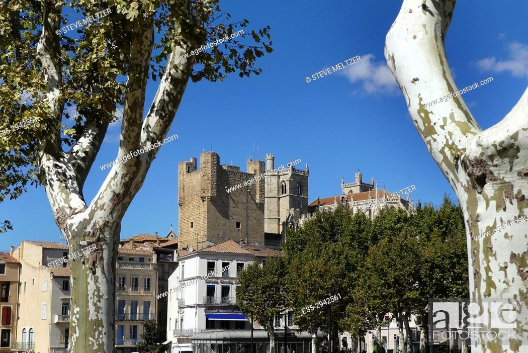 Stock Photo: The Archbishop's palace in Narbonne France.