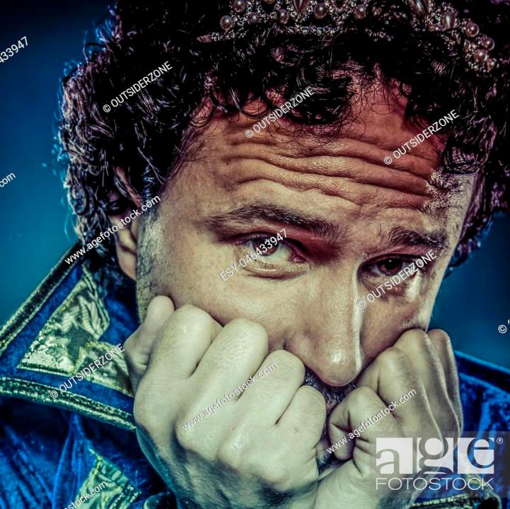 Stock Photo: Blue prince, nobility concept, funny fantasy picture.