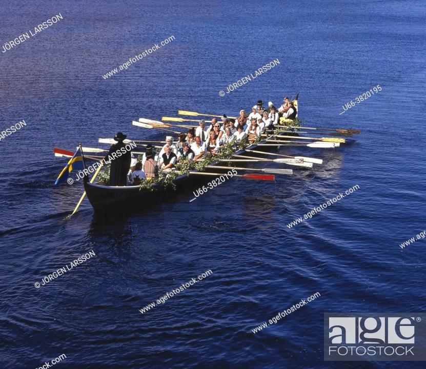 Stock Photo: Rowe-boat Siljan Dalarna Sweden Sverige.