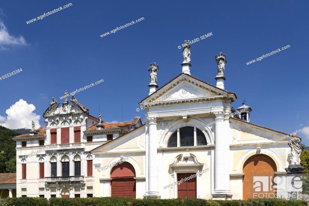 Stock Photo: Villa Angarano in Bassano del Grappa, Veneto, Northern Italy.