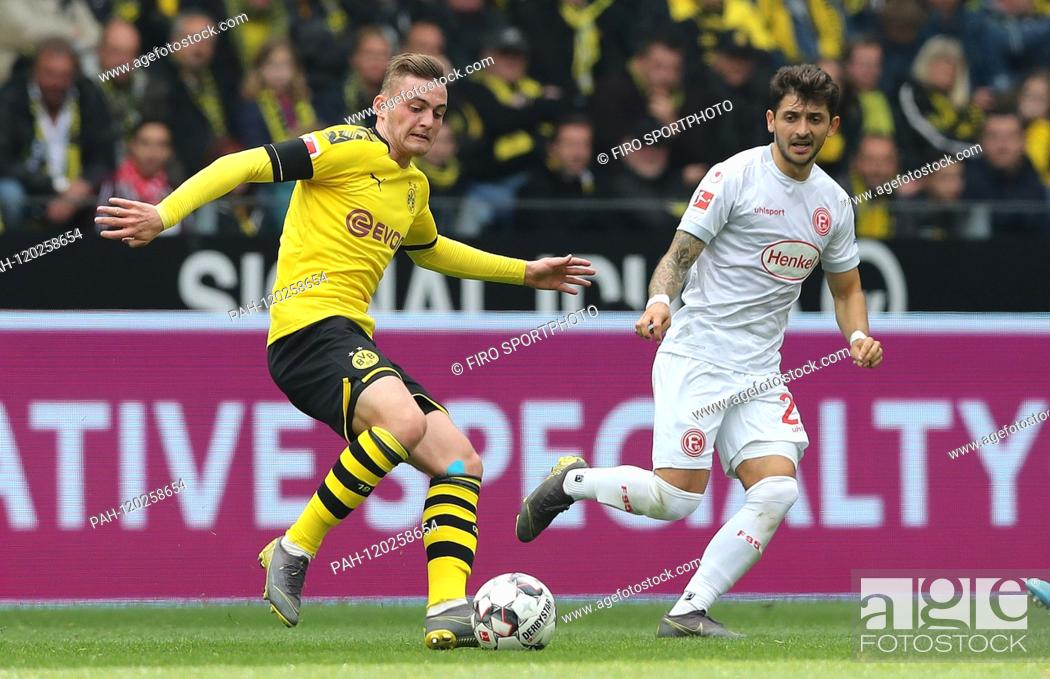 Stock Photo: firo: 11.05.2019, football, 1.Bundesliga, season 2018/2019, BVB, Borussia Dortmund - Fortuna Dusseldorf 3: 2 Jacob BRUUN LARSEN, BVB left | usage worldwide.
