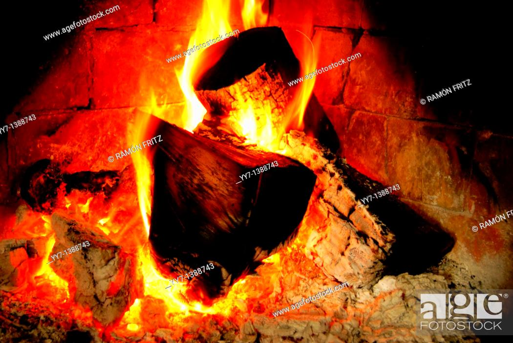 Stock Photo: Fire place.