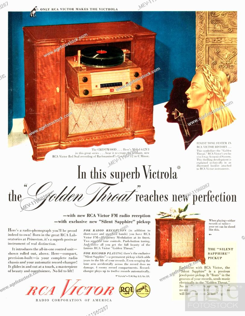 Victor radio record player Stock Photos and Images | age fotostock